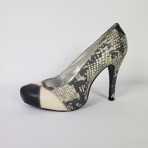 Lovely People Animal Print Heels Size 8.5